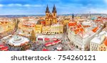 prague in christmas time.... | Shutterstock . vector #754260121