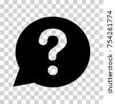question mark sign in black... | Shutterstock .eps vector #754261774