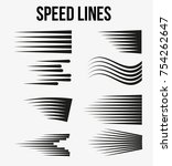 speed lines black for manga and ... | Shutterstock .eps vector #754262647
