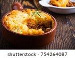 shepherd's pie  traditional... | Shutterstock . vector #754264087