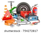 automotive tools  equipment and ... | Shutterstock . vector #754272817
