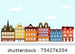 urban village christmas... | Shutterstock .eps vector #754276354