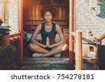 charming young brazilian girl... | Shutterstock . vector #754278181