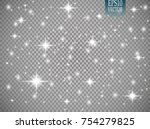 vector white glitter wave... | Shutterstock .eps vector #754279825