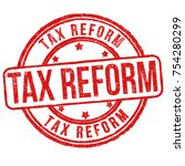 tax reform grunge rubber stamp... | Shutterstock .eps vector #754280299