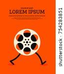 movie and film modern retro... | Shutterstock .eps vector #754283851