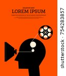 movie and film modern retro... | Shutterstock .eps vector #754283857