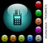 pos terminal icons in color... | Shutterstock .eps vector #754284571