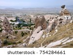 abandoned cave city in uchisar  ... | Shutterstock . vector #754284661