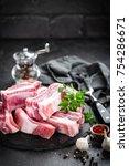 pork ribs  raw meat | Shutterstock . vector #754286671