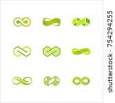 vector infinity logo design.   Shutterstock .eps vector #754294255
