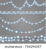 christmas lights isolated on...   Shutterstock .eps vector #754294357