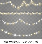 christmas lights isolated on... | Shutterstock .eps vector #754294375