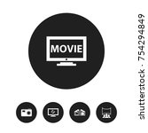 set of 5 editable movie icons....