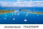 aerial view of cozy...   Shutterstock . vector #754295899