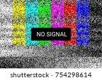 tv no signal. rgb static screen.... | Shutterstock .eps vector #754298614