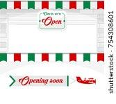 italian cafe  pizzeria  market... | Shutterstock .eps vector #754308601