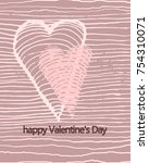 cover design for valentine... | Shutterstock .eps vector #754310071