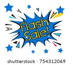 flash sale  beautiful greeting... | Shutterstock .eps vector #754312069