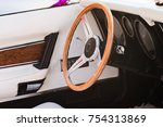 Close Up Of A Steering Wheel O...