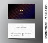 modern business card template...   Shutterstock .eps vector #754316104