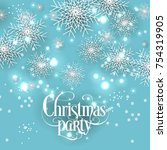 christmas party invitation... | Shutterstock .eps vector #754319905