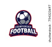 soccer logo  american logo... | Shutterstock .eps vector #754323697