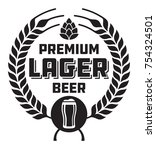 Lager Beer Badge Or Label....