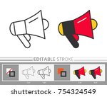 megaphone speaker stock sale... | Shutterstock .eps vector #754324549