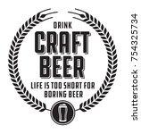 craft beer badge or label.... | Shutterstock .eps vector #754325734