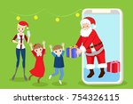 cartoon family with christmas...   Shutterstock .eps vector #754326115