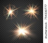set of glow effect  magical... | Shutterstock .eps vector #754330777