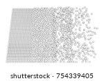 big data visualization. machine ... | Shutterstock .eps vector #754339405