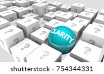 clarity amid confusion clear... | Shutterstock . vector #754344331