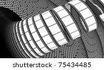 3d blank film on white... | Shutterstock . vector #75434485