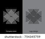 abstract logo design.logo...   Shutterstock .eps vector #754345759