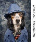 stylish business dog | Shutterstock . vector #75434809