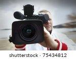 tv reportage | Shutterstock . vector #75434812