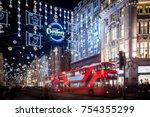 christmas lights 2017 on oxford ...   Shutterstock . vector #754355299
