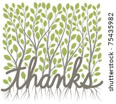 a thank you message made of... | Shutterstock .eps vector #75435982