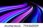 colorful abstract  radiant... | Shutterstock . vector #754360009