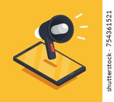event notification  media... | Shutterstock .eps vector #754361521