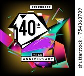 40th years anniversary card... | Shutterstock .eps vector #754363789