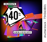 40th years anniversary card... | Shutterstock .eps vector #754363801