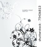 floral abstraction  vector... | Shutterstock .eps vector #75436813