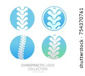 set manual therapy logo.... | Shutterstock .eps vector #754370761
