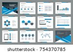 page layout design with info... | Shutterstock .eps vector #754370785
