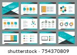 page layout design with info... | Shutterstock .eps vector #754370809