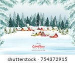 holiday christmas background... | Shutterstock .eps vector #754372915