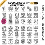 social media marketing concept...